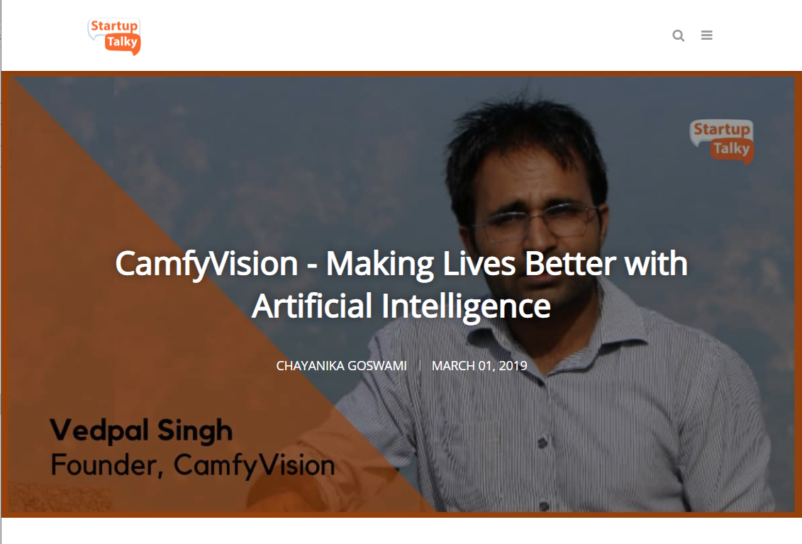 CamfyVision - Making Lives Better with Artificial Intelligence